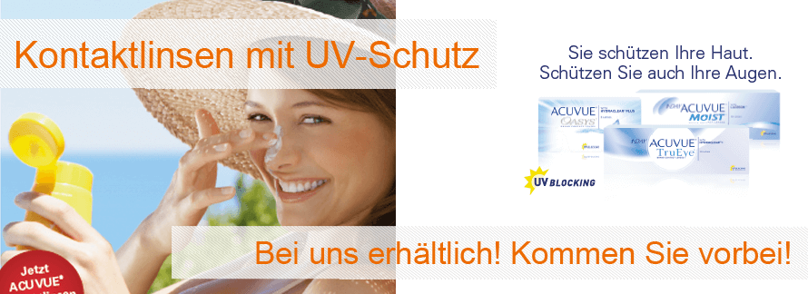 Kontaktlinsen mit UV-Schutz