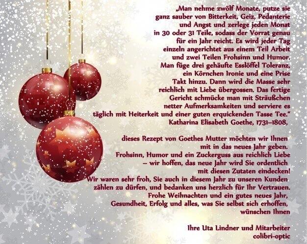 Flyer mit Weihnachtsgruß