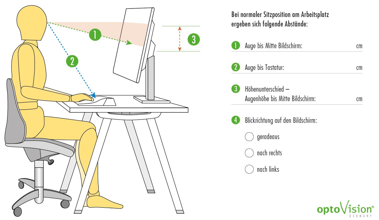 Abstände vom Monitor für eine Bildschirmarbeitsplatzbrille erfassen – colibri-optic